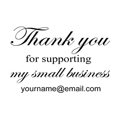 Thank You For Supporting Our Small Business Design Handmade With Love By Created Personalized Custom