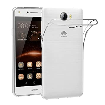 Case for Huawei Y5 II (5 inch) MaiJin Soft TPU Rubber Gel Bumper  Transparent Back Cover