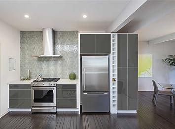Küchen Folie aufkleber für küchenschränke 63x500cm glanz folie aus hochwertigem
