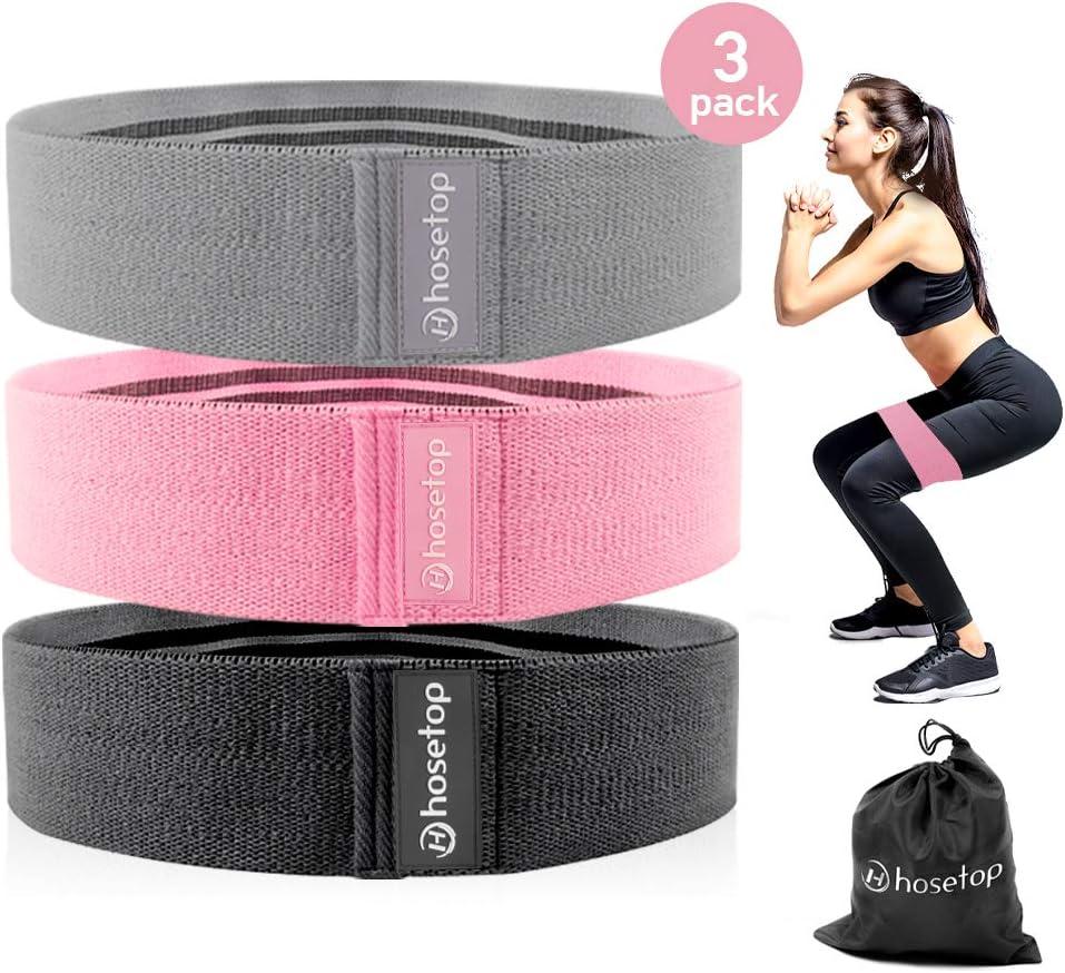 Chiffon Tissu Résistance Booty Bandes Loop Set de 3 Exercice Workout Fitness Gym