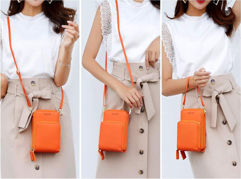 portefeuille pour sac /à main pour t/él/éphone portable avec plusieurs poches et /épaule Petits sacs pour t/él/éphone Crossbody pour femmes bleu