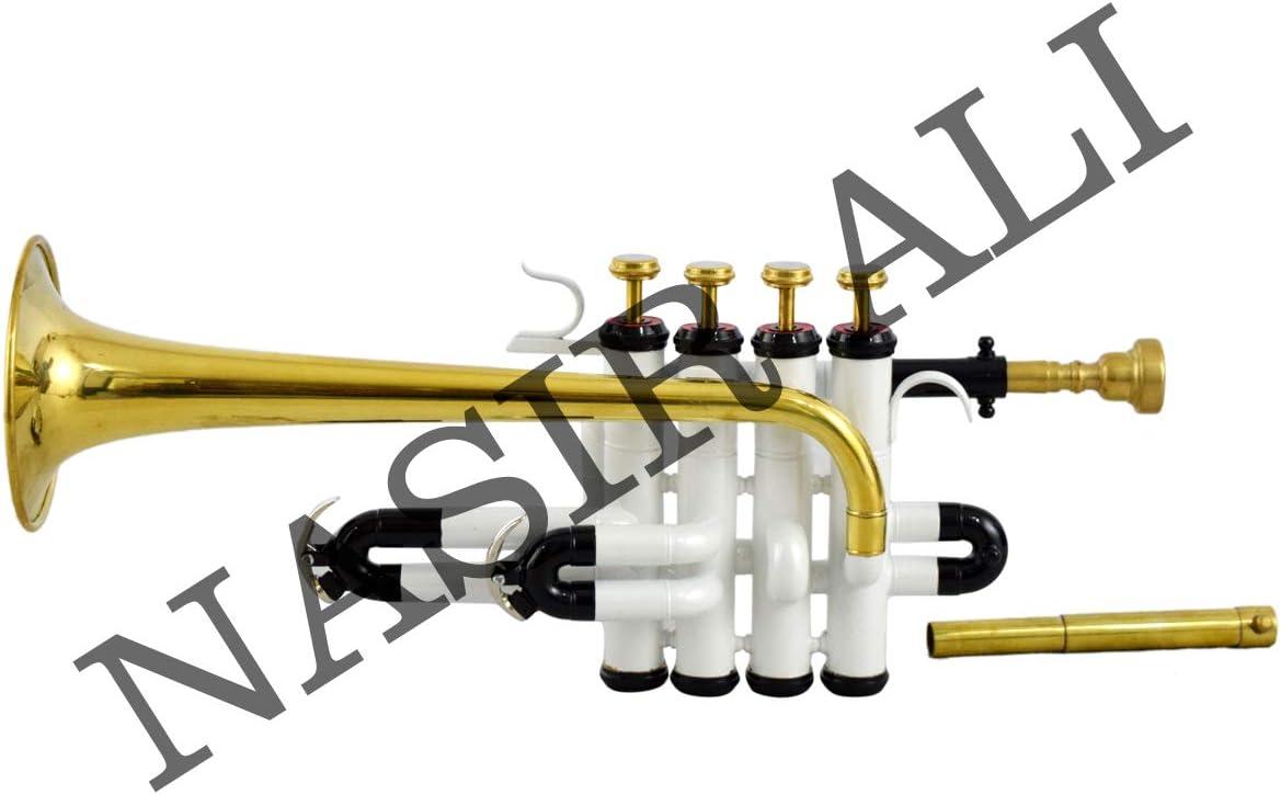 White /& Brass Piccolo Trumpet Nasir Ali PiTr-02 Bb