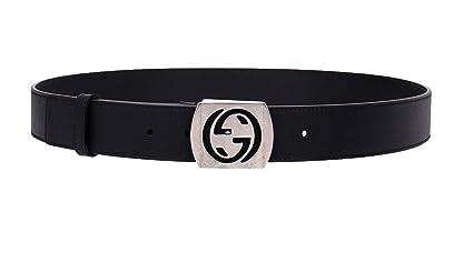 d952abc34ea Amazon.com  Gucci Men s Cocoa Brown Leather Interlocking G Leather Belt  387031  Clothing