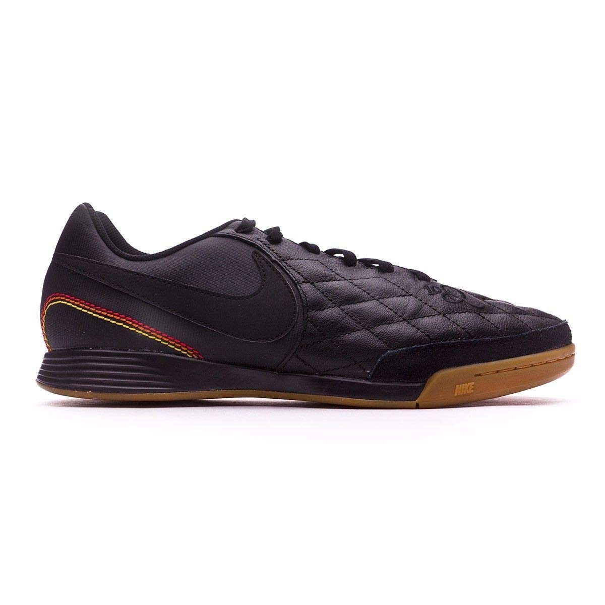 2015a7d7ccd1 Amazon.com | Nike Tiempo Ligera IV 10R IC Ronaldhino Soccer Shoes Black  Gold | Soccer