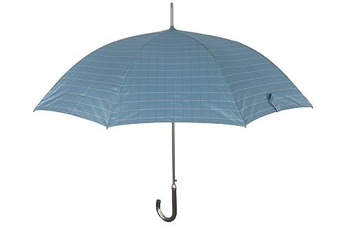 Paraguas mujer largo PERLETTI TECHNOLOGY azul claro automático mango curvo Q664
