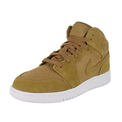 cb10915f2540 Jordan Kids AIR 1 MID BG Golden Harvest SAIL Size 5