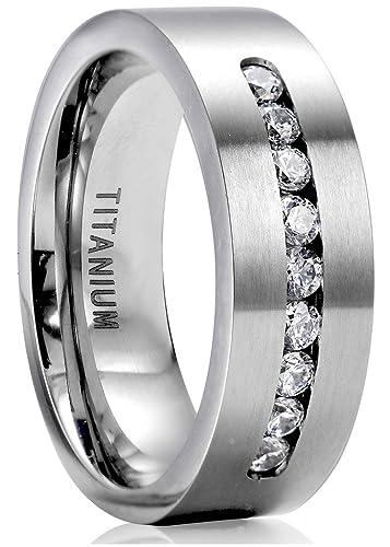 jstyle titanium engagement rings for men promise ring jewelry 8mm - Titanium Wedding Rings For Men