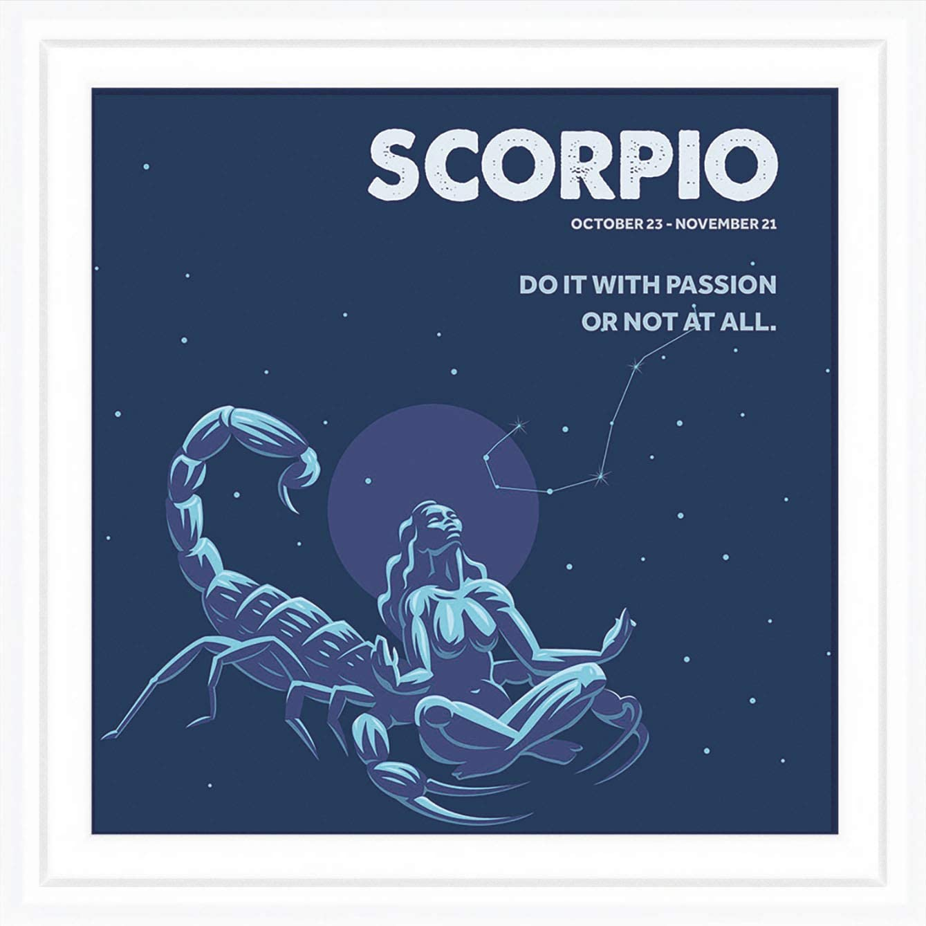Scorpio Zodiac Sign Gifts   7x7 Tile Artwork for Scorpio Sign Men or Women   Ideal Gift for Astrology Lovers   Zodiac Related Present   Perfect Horoscope Themed Decorations
