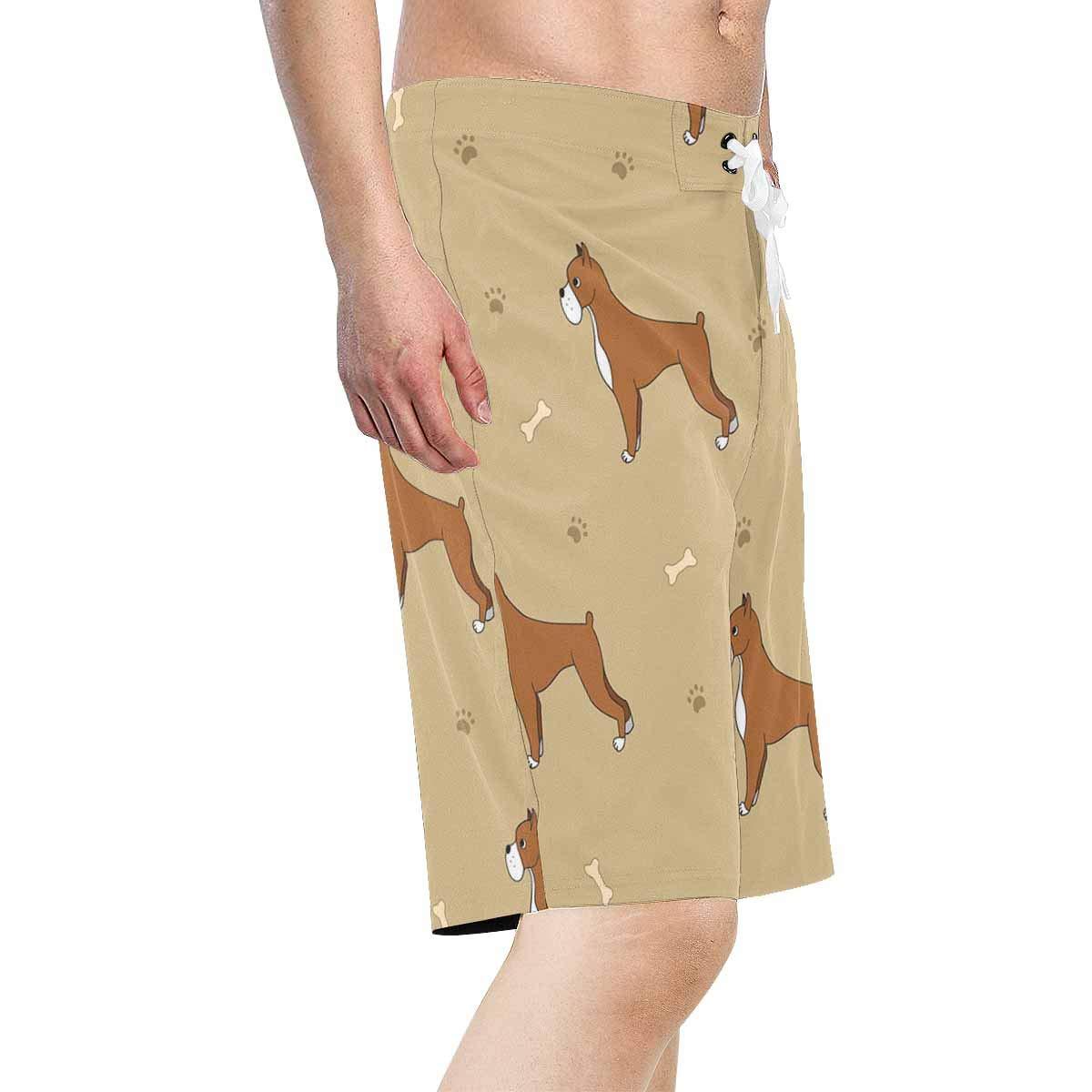 XS-6XL INTERESTPRINT Mens Board Water Shorts Cartoon Cute Dogs Quick Dry Swim Trunks