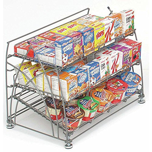 Countertop Display Rack Flint Metal 3-Shelf - 22 3/4''L x 15 3/8''W x 18 7/8''H by Hubert