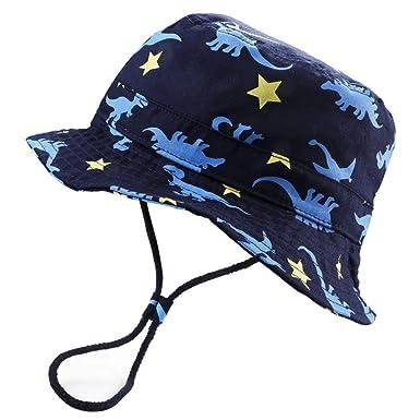 Jipai(TM) Chapeau de Soleil Bébé Garçon Bonnet Bob de Plage Anti UV Pliable 4fc41d1867f