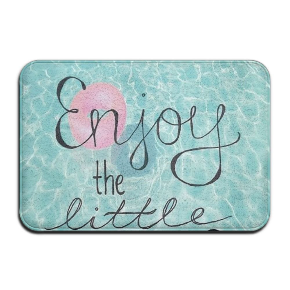 BINGO BAG Enjoy The Little Things Pool Indoor Outdoor Entrance Printed Rug Floor Mats Shoe Scraper Doormat For Bathroom, Kitchen, Balcony, Etc 16 X 24 Inch by BINGO BAG