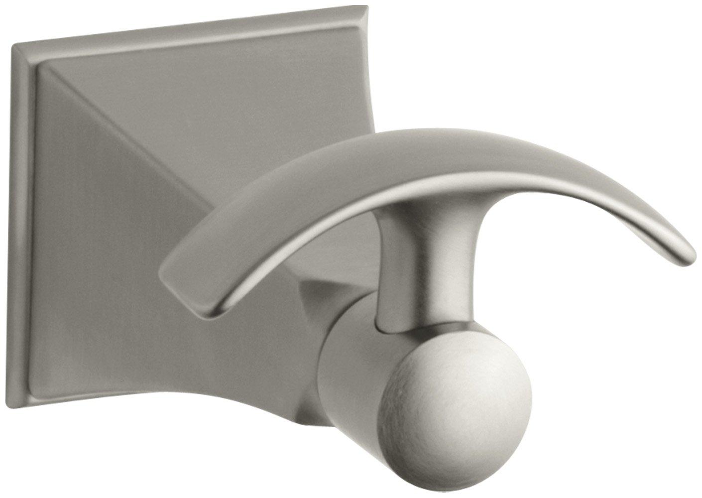 KOHLER K-492-BN Memoirs Robe Hook with Stately Design, Vibrant Brushed Nickel
