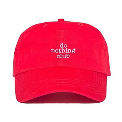 b44bc00a25eab Amazon.com   Do Nothing Club Embroidered Unstructured Adjustable Six Panel Dad  Hat 100% Cotton   Sports   Outdoors