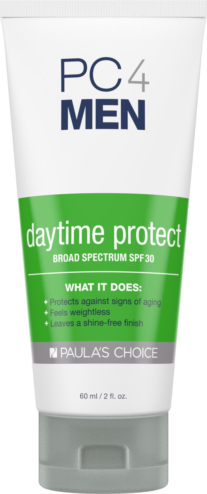 Paula's Choice PC4MEN Daytime Protect SPF 30 Moisturizer with Antioxidants, 2 oz (1 Bottle) Fragrance Free