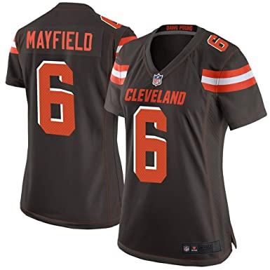 buy popular ade5e 7fb03 Amazon.com: #6 Baker Mayfield Cleveland Browns Women's Game ...