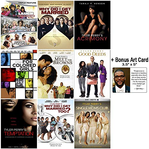 The Tyler Perry Biggest Fan DVD Collection: 10 Movies + 1 Play + Bonus Art Card (Tyler Perrys Single Moms Club)