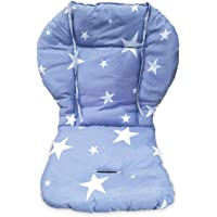 Twoworld High Chair Cushion, Large Thickening Baby High Chair Seat Cushion Liner Mat Pad Cover Breathable (Blue Star)