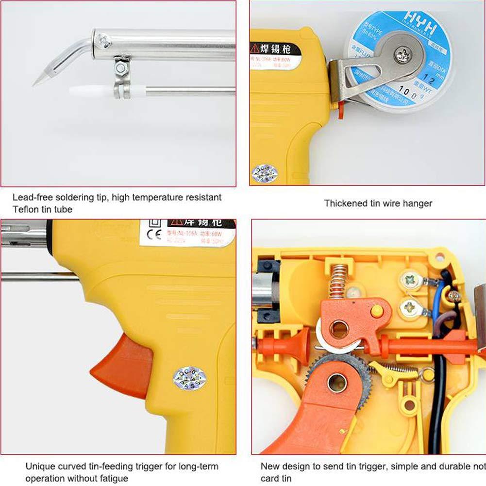 Wecando NL - 110V/106A Manual Soldering Gun 60W One-Hand Lead Universal Soldering Gun Kit (Yellow) by Wecando (Image #3)