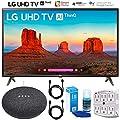 "LG 49UK6300 49"" (49UK6300PUE) UK6300 4K HDR Smart LED AI UHD TV w/ThinQ Google Home Mini Bundle"