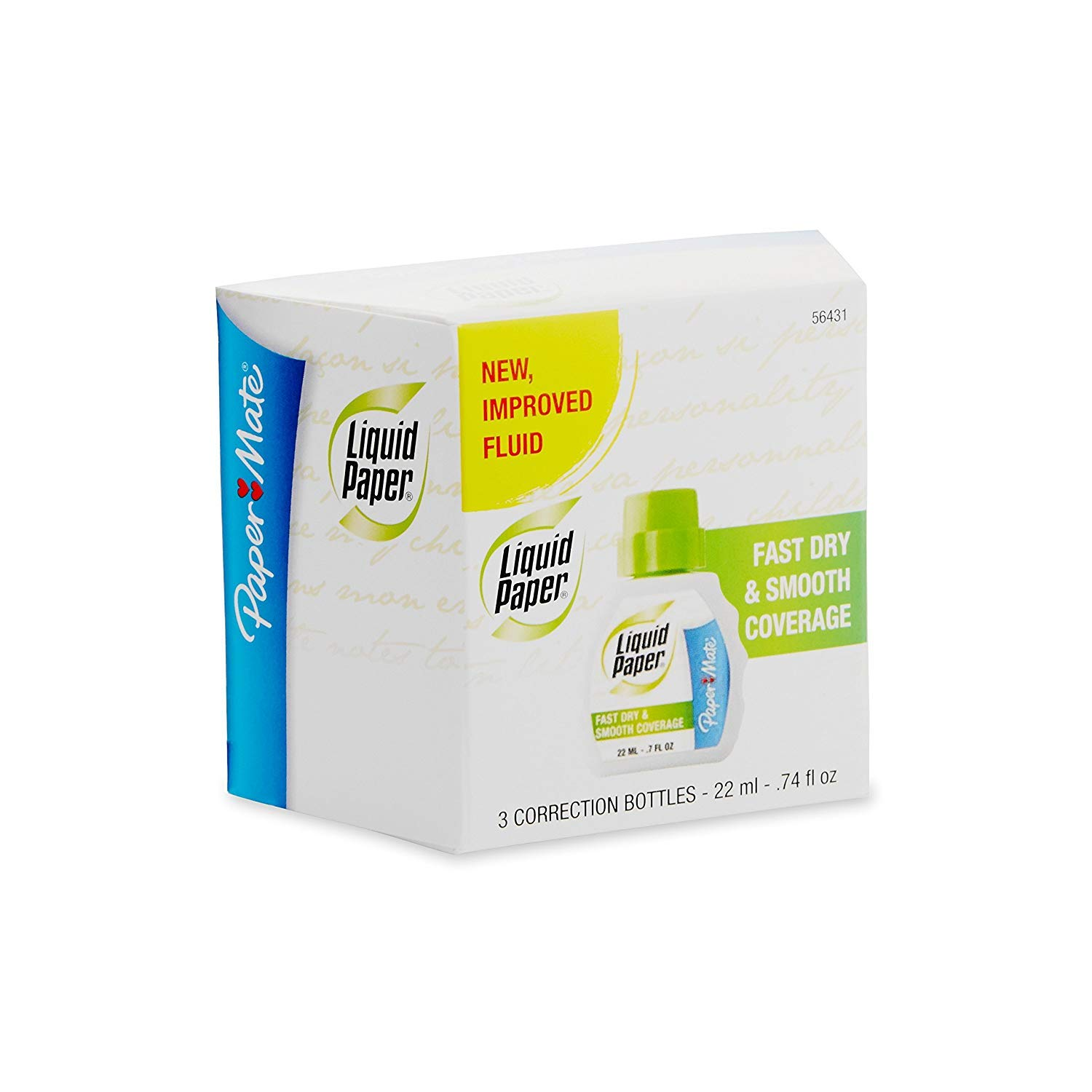 Liquid Paper Fast Dry Correction Fluid, Pack of 15