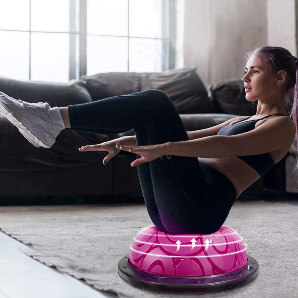 media pelota con correas para yoga