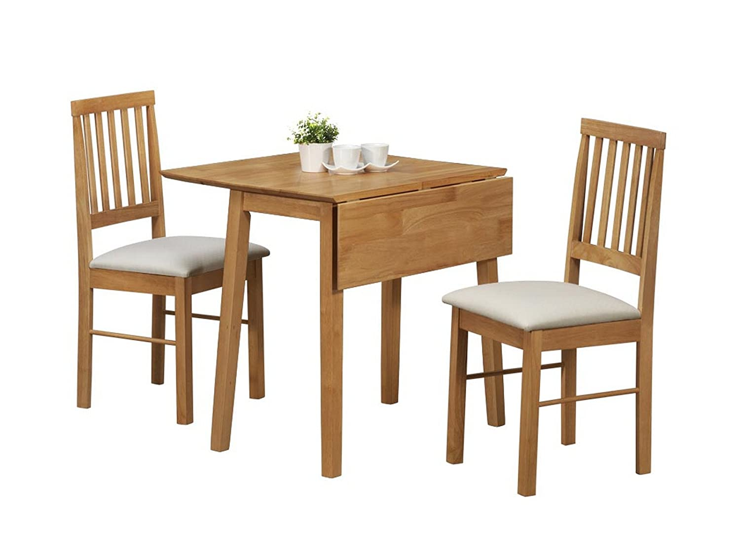 Birlea Drop Leaf Dining Set - Drop Leaf Dining Table & 2 Dining ...