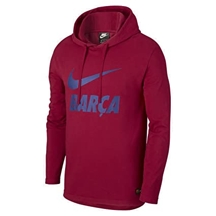 Nike FC Barcelona Hoodie, Hombre, 892551-620, Noble Red/Deep Royal