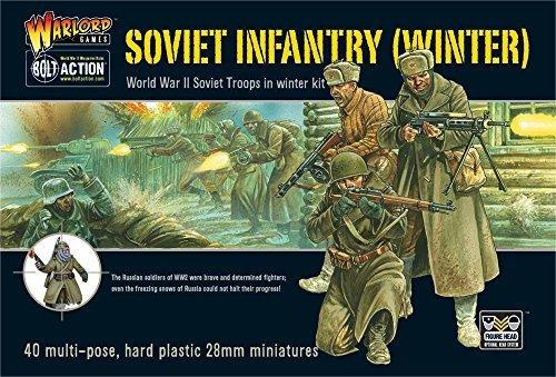 Bolt Action Soviet Infantry Winter Troops 1:56 WWII Military Wargaming Figures Plastic Model Kit