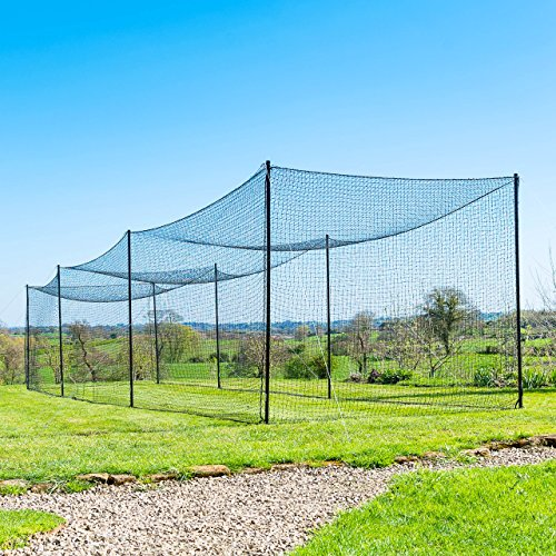 Ultimate Baseball Batting Cage [Net & Poles Package] - #42 Heavy Duty Net with Steel Uprights [Net World] 24hr Ship - (20', 35', 55', 70') (55' Batting Cage Package) (Outdoor Frame Cage Batting)