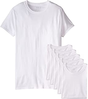 361dbf3e682f Fruit of the Loom Mens 6Pack White Crew-Neck Undershirts Cotton T-Shirts