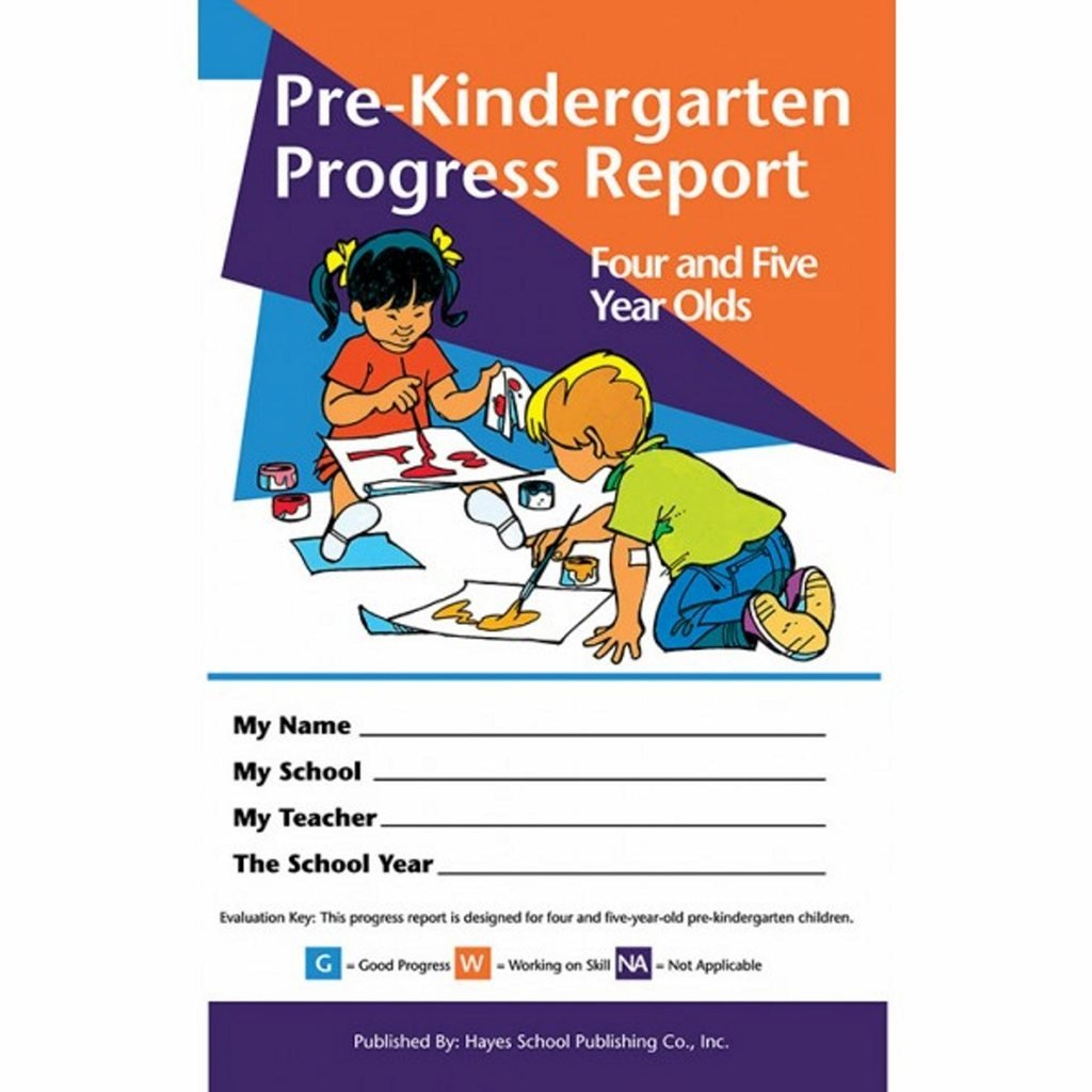 Pack of 80 Pre-Kindergarten Progress Reports for 4 and 5 Year olds by Hayes (Image #1)