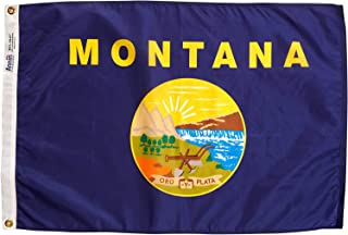 product image for Annin Flagmakers Model 143150 Montana Flag Nylon SolarGuard NYL-Glo, 2x3 ft, 100% Made in USA to Official State Design Specifications