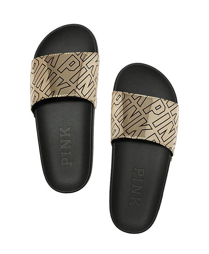 6ba80b7ac6c92 Victoria's Secret PINK Crossover Comfort Slide Sandals Shoes
