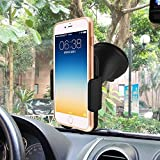 Universal Windshield Car Mount, Asscom Windshield Dashboard Car Holder Cradle for Iphone6 6plus, 6s, 6s plus, 5, 5s, 5c, 4, 4s, Samsung Galaxy S5, S4, S3, Note2/3/4/5 and all 3.5-5.8 Inches Mobile Device