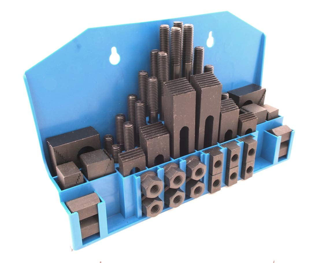 5//8 T Slot HHIP 3901-0006 58 Pieces Ultra Quality Steel Clamping Kit 1//2-13 Stud Size