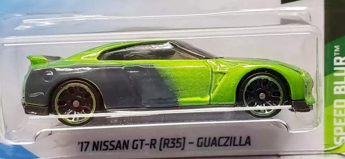 Hot Wheels 2019 Speed Blur T Fox 17 Nissan Gt R R35 Guaczilla 61 250 Green