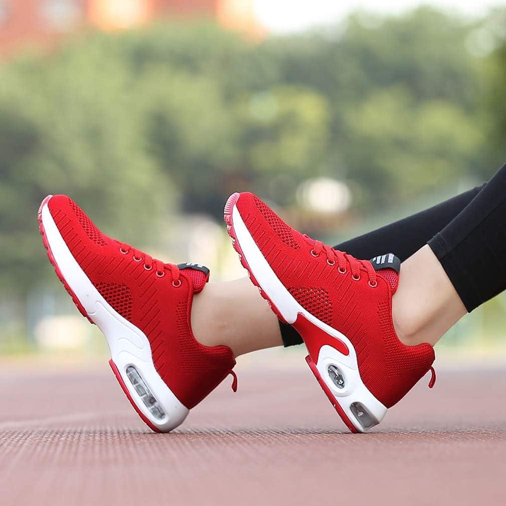 Sportschuhe Damen Turnschuhe Sneaker Freizeit Air rutschfeste Laufschuhe D/äMpfung Leichte Atmungsaktive Schuhe,
