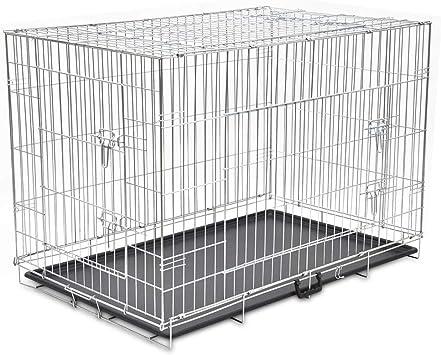 vidaXL Hundekäfig Faltbar XXL Metall Transportbox Hundebox Transportkäfig:  Amazon.de: Haustier