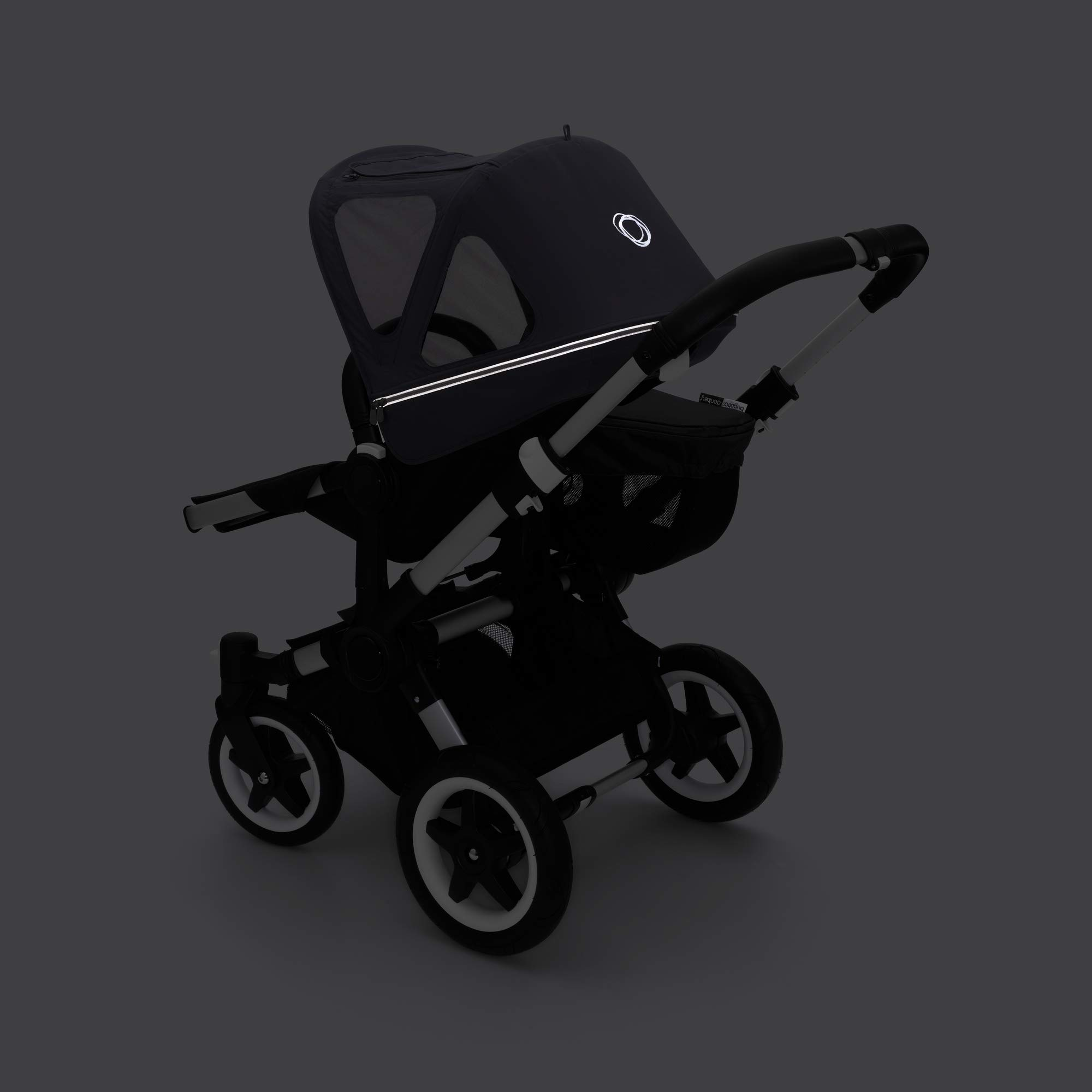 Bugaboo Donkey2 Breezy Sun Canopy, Stellar - Extendable Sun Canopy with Mesh Ventilation Panels, Made with Reflective Materials for Nighttime Strolling