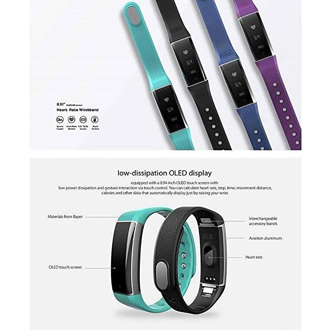 LL-Pulsera elegante de Smartband del perseguidor de la aptitud del sueño de la pulsera de la frecuencia cardíaca Pulsera elegante de Smartband del persector ...