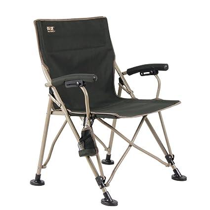 Silla de camping, silla plegable portátil con portavasos y bolsa de almacenamiento, silla de