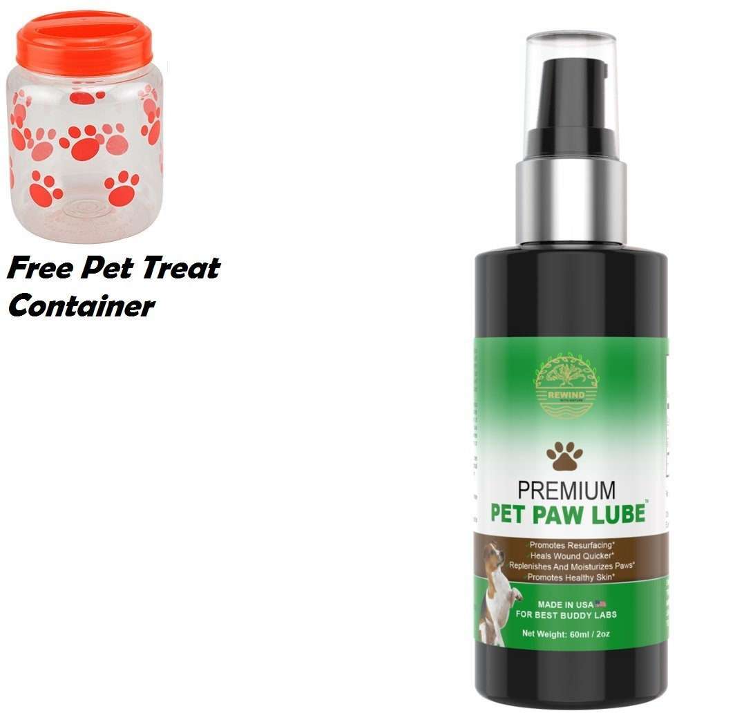 Pet Paw Oil Lubricant Dog Paw Balm, Paw Nose oils for Dogs - Pet skin oils nose oils Serum Dry Cracked Itchy Skin Bundle FREE Red Treat All Seasons Protection,Allergies Hair Growth