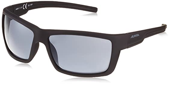 Alpina Sonnenbrille Amition Dyfer Outdoorsport-Brille, Black Matt-White, One Size