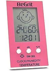 BeGrit Hygromètre Thermomètre pour Bébé Température de la pièce Humidimètre, Numérique Instantané Lecture instantanée avec Smile/Sad Emotion Icon