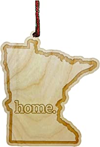 Hat Shark Home Outline US State United States Engraved Wooden Christmas Ornament Gift Seasonal Decoration (Minnesota)