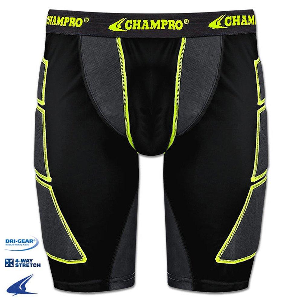 CHAMPRO SHORTS メンズ B078LH8TDS ADULT L ブラック ブラック ADULT L