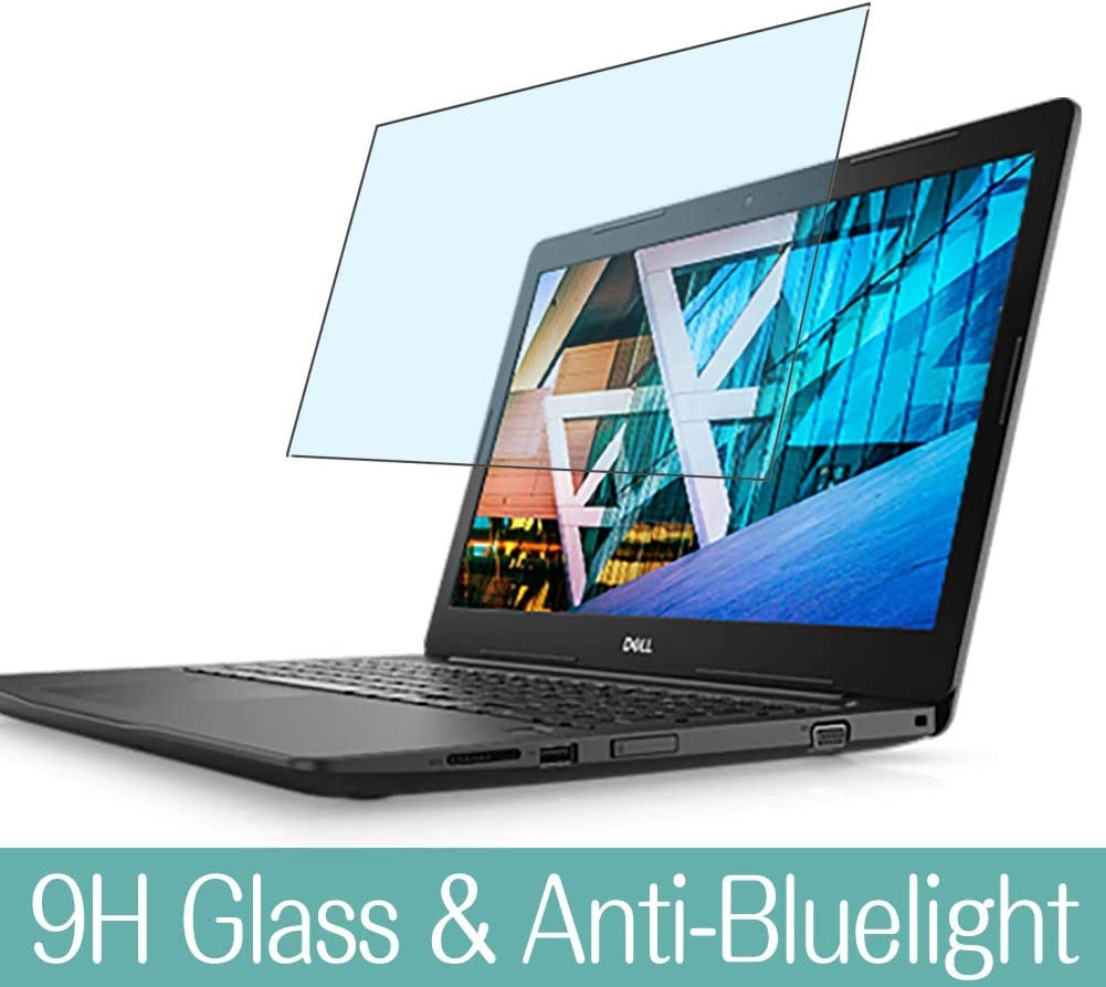 """Synvy Anti Blue Light Tempered Glass Screen Protector for Dell Inspiron 15 3000 (3593) 15.6"""" Visible Area 9H Protective Screen Film Protectors"""