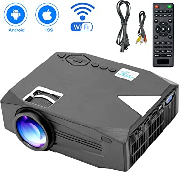 Mini proyector, 2800 Lux LED proyector inalámbrico, soporta Full ...