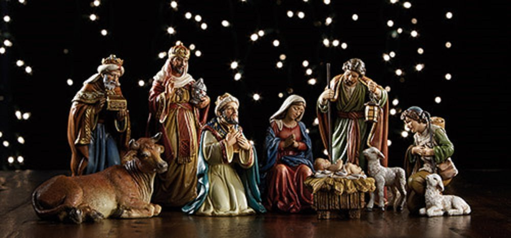 Michael Adams 9-Piece Nativity Set, 5'' H.